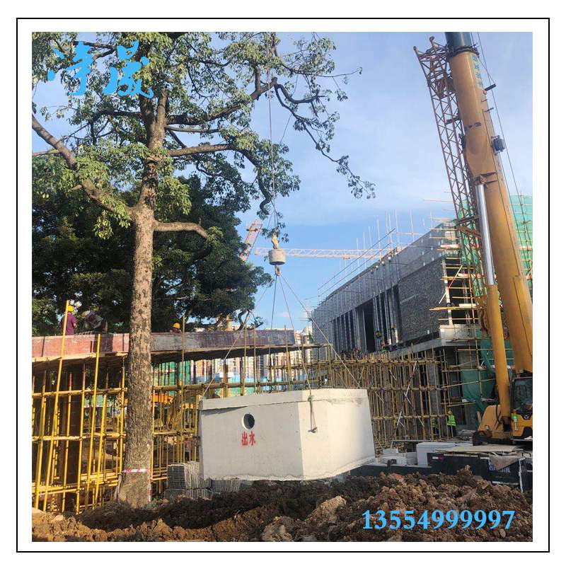 肇庆东城中学45立方钢筋混凝土化粪池